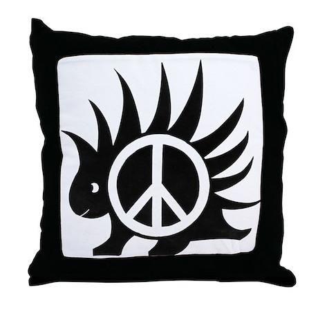 Porcupine Peace Throw Pillow