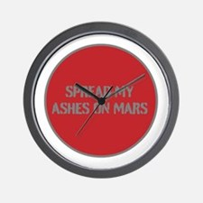 SPREAD MY ASHES ON MARS Wall Clock