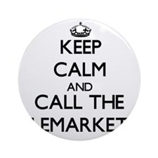 Funny Telemarketer Ornament (Round)