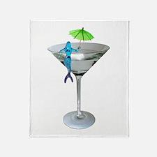 Mermaid Martini Throw Blanket