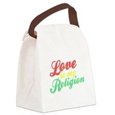 Love is my Religion Canvas Lunch Bag