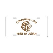 conquering-lion-w.png Aluminum License Plate