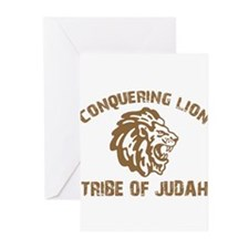 conquering-lion-w.png Greeting Cards (Pk of 20)