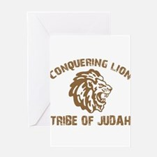 conquering-lion-w.png Greeting Card