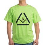 The Masonic Triangle Green T-Shirt