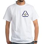 The Masonic Triangle White T-Shirt