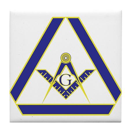 The Masonic Triangle Tile Coaster