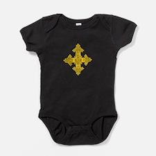 rasta-cross-w.png Baby Bodysuit