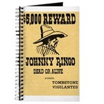 Wanted Johnny Ringo Journal