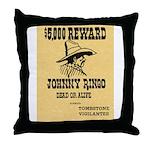 Wanted Johnny Ringo Throw Pillow