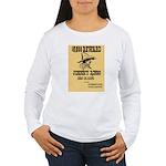 Wanted Johnny Ringo Women's Long Sleeve T-Shirt