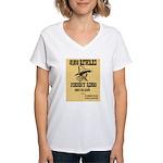 Wanted Johnny Ringo Women's V-Neck T-Shirt