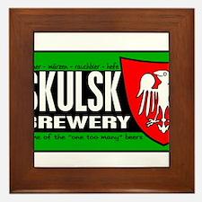 SKULSK-n-white.png Framed Tile