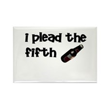 I plead the 5th beer Rectangle Magnet