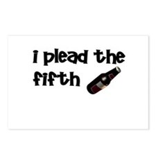 I plead the 5th beer Postcards (Package of 8)