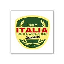"Italia Scooter Square Sticker 3"" x 3"""