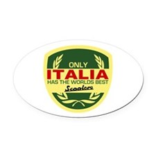 Italia Scooter Oval Car Magnet