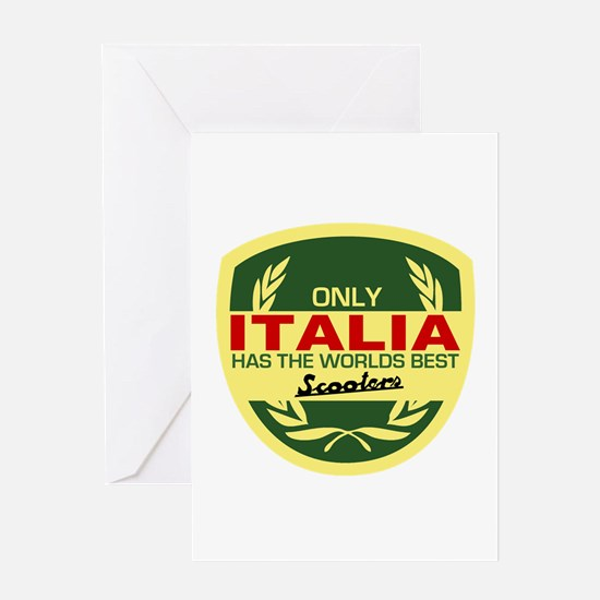 Italia Scooter Greeting Card