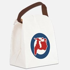 brit-scooter.png Canvas Lunch Bag