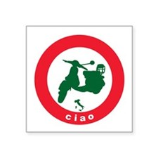 "ciao-scooter.png Square Sticker 3"" x 3"""