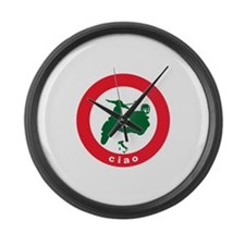 ciao-scooter.png Large Wall Clock