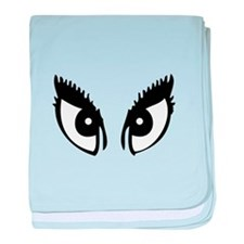 Girly Eyes baby blanket