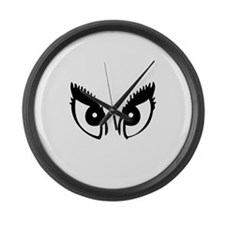 Girly Eyes Large Wall Clock