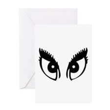 Girly Eyes Greeting Card