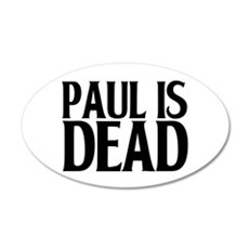 pauldead1.png 20x12 Oval Wall Decal