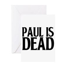 pauldead1.png Greeting Card