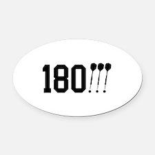 180 Darts!!! Oval Car Magnet