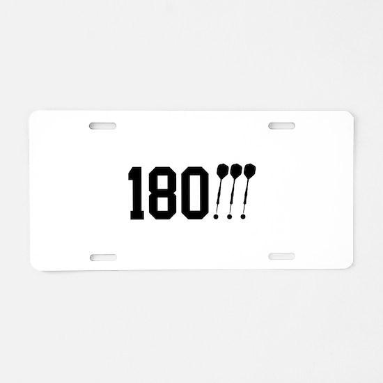 180 Darts!!! Aluminum License Plate