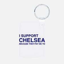 I Support Chelsea Keychains
