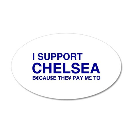 i support chelsea wall sticker by shirteesnet