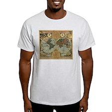 Cute Antique world map T-Shirt