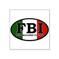 "FBI.png Square Sticker 3"" x 3"""