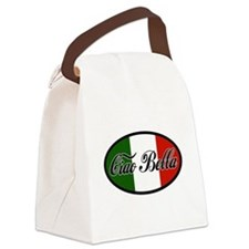 ciao-bella-OVAL2.png Canvas Lunch Bag