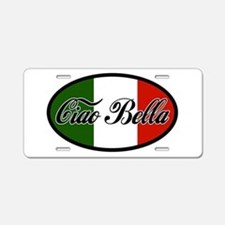 ciao-bella-OVAL2.png Aluminum License Plate