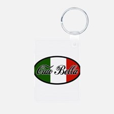 ciao-bella-OVAL2.png Aluminum Photo Keychain