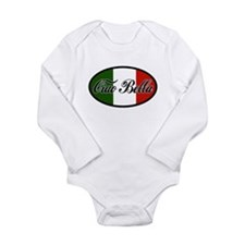 ciao-bella-OVAL2.png Long Sleeve Infant Bodysuit