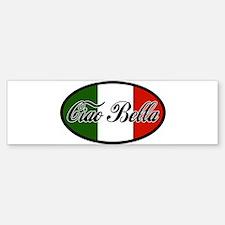 ciao-bella-OVAL2.png Bumper Bumper Sticker