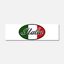 italia-OVAL.png Car Magnet 10 x 3