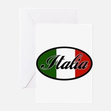 italia-OVAL.png Greeting Cards (Pk of 20)