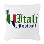 italia-football.png Woven Throw Pillow