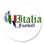 italia-football.png Round Car Magnet