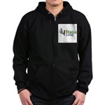italia-football.png Zip Hoodie (dark)