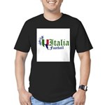 italia-football.png Men's Fitted T-Shirt (dark)