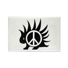 Porcupine Peace Rectangle Magnet