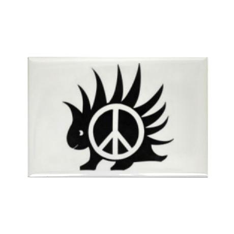 Porcupine Peace Rectangle Magnet