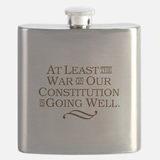 War on Constitution Flask